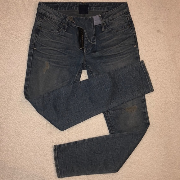 RtA Road to Awe Denim - RtA Jeans Distressed Slim Ankle 27x28 MSRP $290